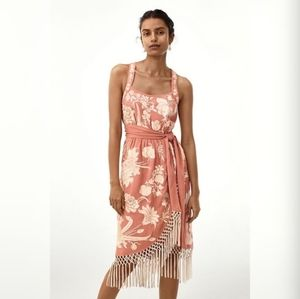 Lucille Pink Embroidered Dress New